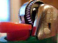 macro shot of a lighter